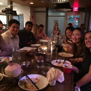 Dinner with residents, fellows and attendings in Boston